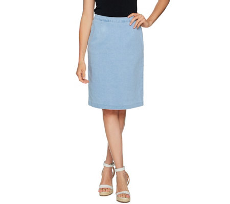 Joan Rivers Denim Slim Skirt