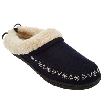 """As Is"" Clarks Faux Shearling Clog Slippers - A293221"