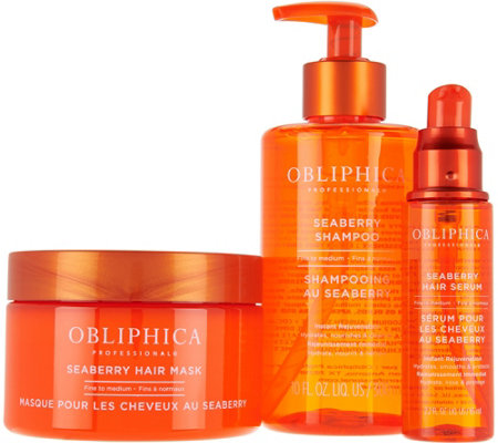 Obliphica Professional 3-Piece Seaberry Hair Treatment Kit