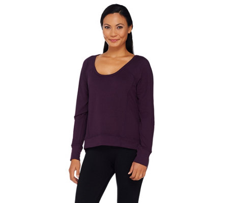 """As Is"" cee bee CHERYL BURKE Terry Long Sleeve Top"