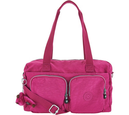 """As Is"" Kipling Nylon Front Pocket Satchel- Cyrene"