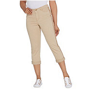 Isaac Mizrahi Live! Petite Chino Girlfriend Crop Pants - A306921