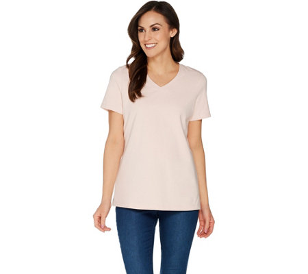 Martha Stewart Classics V-Neck Short Sleeve T-Shirt