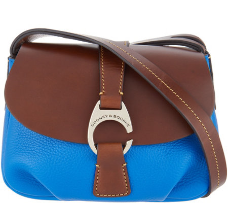 Dooney & Bourke Leather Small Flap Crossbody Handbag - Derby