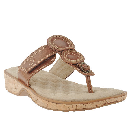 SoftWalk Leather Thong Sandals - Beaumont