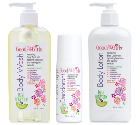 Good For You Girls 3-Piece Body Care Bundle