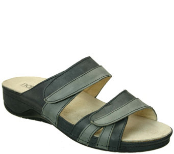 Napa Flex by David Tate Leather Slide Sandals -Capri - A339921