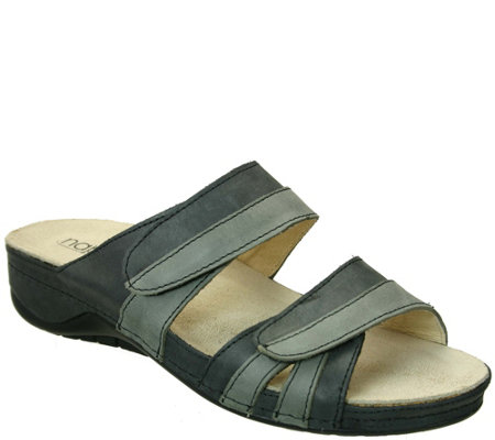 Napa Flex by David Tate Leather Slide Sandals -Capri