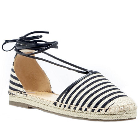 Sole Society Ankle Tie Espadrilles - Tallulah