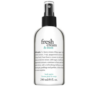 philosophy fresh cream and mint body spritz, 8 oz - A340821