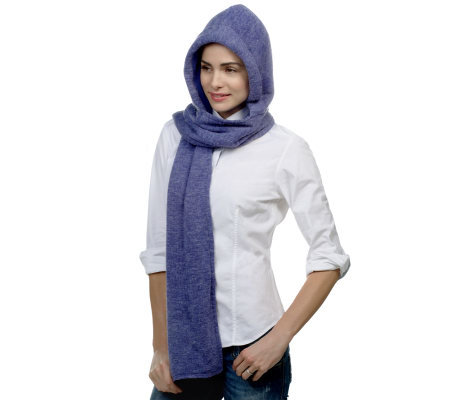 35 Degrees Below Marled Hooded Scarf w/Micro Fleece Lining