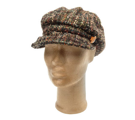 Collection XIIX Boucle Cabby Hat with Stone Jewel Accent