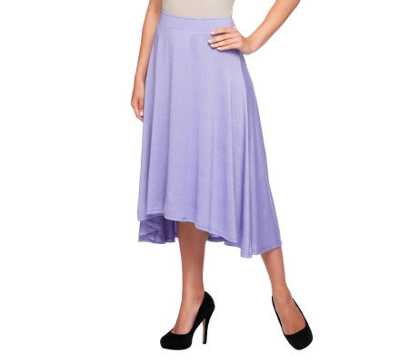 Liz Claiborne New York Pull-On High-Low Knit Maxi Skirt