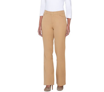 Isaac Mizrahi Live! Regular 24/7 Stretch Boot Cut 5 Pocket Pants - A251722