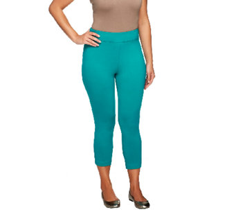 Linea by Louis Dell'Olio Knit Pull-On Crop Leggings - A255122