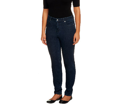 Isaac Mizrahi Live! Regular Ankle Length Slim Leg Jeans