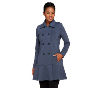 Styled by Joe Zee Drop Waist Button Front Coat - A258122