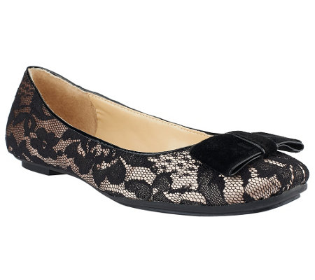 """As Is"" Isaac Mizrahi Live! Ballet Flats with Bow"