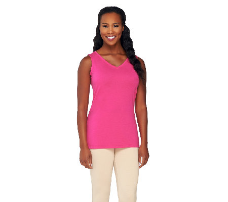 Susan Graver Weekend Cotton Modal V-Neck Tank