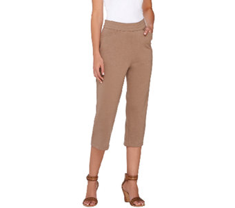Liz Claiborne New York Ponte Knit Capri Pants - A264122