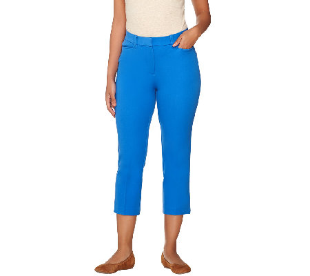 Isaac Mizrahi Live! Petite 24/7 Stretch Crop Pants