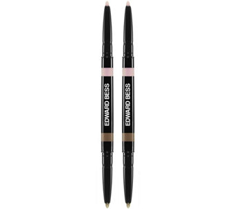 Edward Bess Set of 2 Fully Defined Dual Ended Brow Pencil - A267022