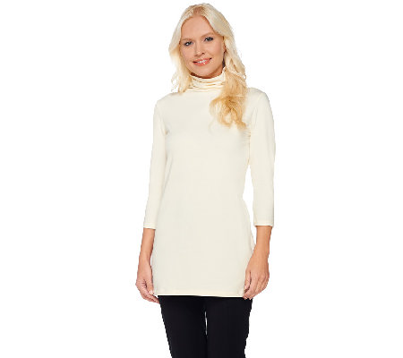 Women with Control Regular Long and Lean 3/4 Sleeve Knit Tunic