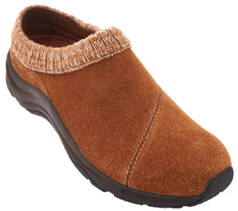 Vionic Orthotic Water-Resistant Clogs w/ Knit Collar - Arbor - A270722
