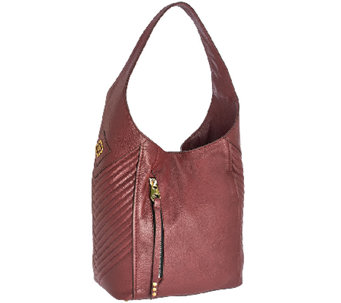"""As Is"" orYANY Italian Grain Leather Hobo with Quilting - Lucianna - A275922"