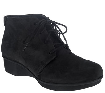 """As Is"" Dansko Stain Resistant Lace-Up Ankle Boots - Lucille - A276122"
