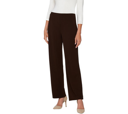 """As Is"" Susan Graver Passport Knit Pull-On Wide Leg Pants"