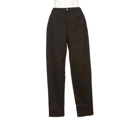 """As Is"" EffortlessStyle by David Dart Stretch Twill Pants"