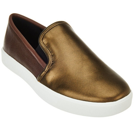 """As Is"" LOGO by Lori Goldstein Slip-on Sneakers with Goring"
