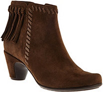 Earthies Suede Ankle Boots with Fringe - Zurich - A284122