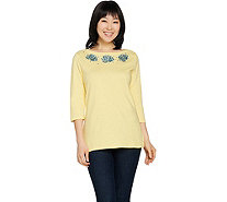 Quacker Factory Under the Boardwalk Bateau Neck Knit T-Shirt - A288122