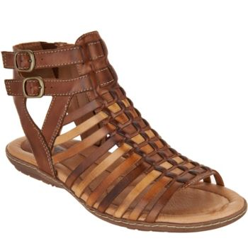 Earth Leather Gladiator Sandals - Sky