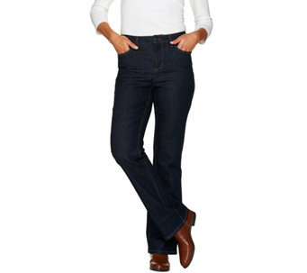 """As Is"" Denim & Co. Regular 5 Pocket Denim Slightly Bootcut Jeans - A292122"