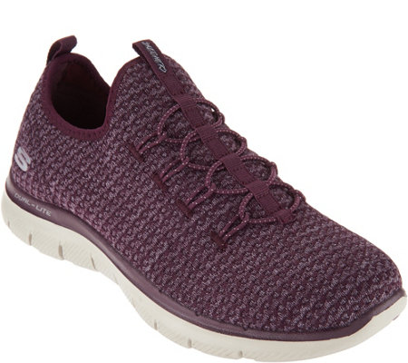 Skechers Multi-Knit Slip-On Bungee Sneakers - Visions
