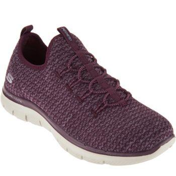 Skechers Multi-Knit Slip-On Bungee Sneakers - Visions