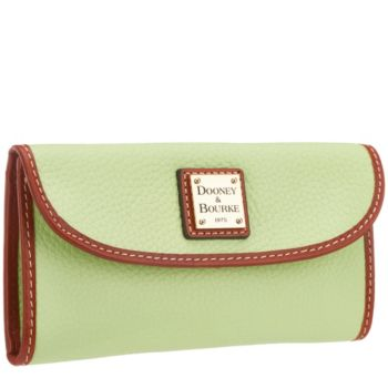 Dooney & Bourke Pebble Leather Continental Clutch Wallet