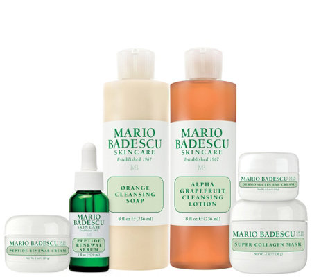 Martha Stewart & Mario Badescu Skin Care 50+ 6-Piece Kit Auto-Delivery