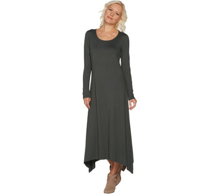 """As Is"" G.I.L.I. Peached Knit Scoop Neck Maxi Dress"