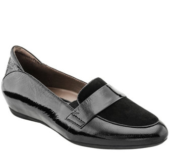 Earthies Leather Slip-on Loafers - Bremen - A356122