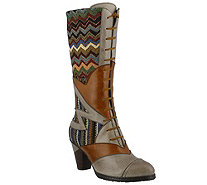Spring Step L'Artiste  Leather & Textile Boots- Malag - A356222