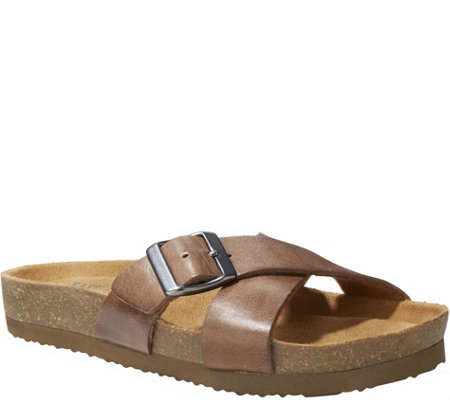 Eastland Leather Slide Sandals - Kelley
