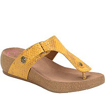 Comfortiva by Softspots Leather Thong Sandals -Shantel - A358522