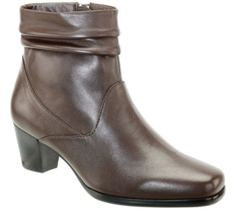 David Tate Leather Ankle Boots - Shadow - A362722