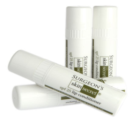 Surgeon's Skin Secret 4 pack Lip Conditioner wih SPF 25