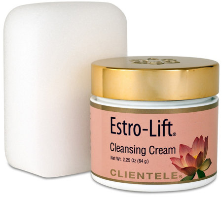 Clientele Estro-Lift Cleansing Cream with Facial Brush & Tote