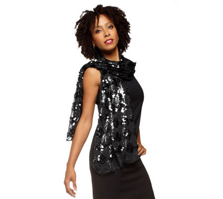 Joan Rivers Metallic Glam Sequin Scarf